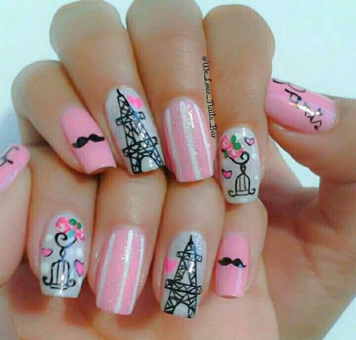 Pin de Lorena Londoño en Nails   Pinterest   Uñas rosas, Uña ...