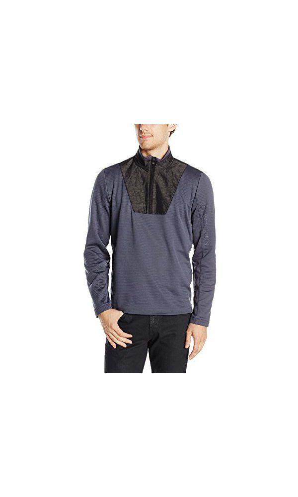 592c0881cbe09 Calvin Klein Men  s Mix Media Performance Fleece 1 4 Zip with Quilted