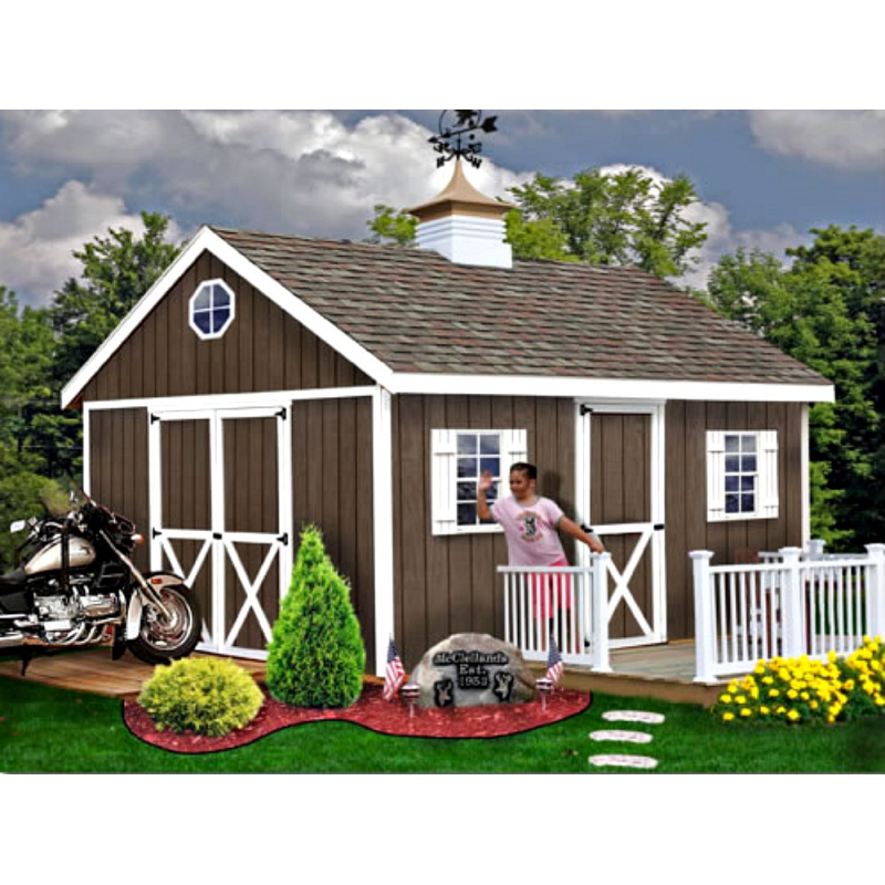 This Best Barns Easton Wood Storage Shed Kit Great For Storing Garden  Tools, Lawn Mowers, Lawn Furniture And Pool Accessories.