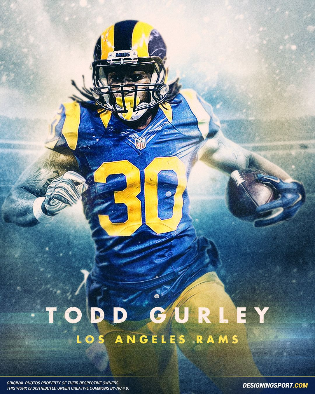 Designing Sport Todd Gurley Los Angeles Rams Todd Gurley Football Los Angeles Rams