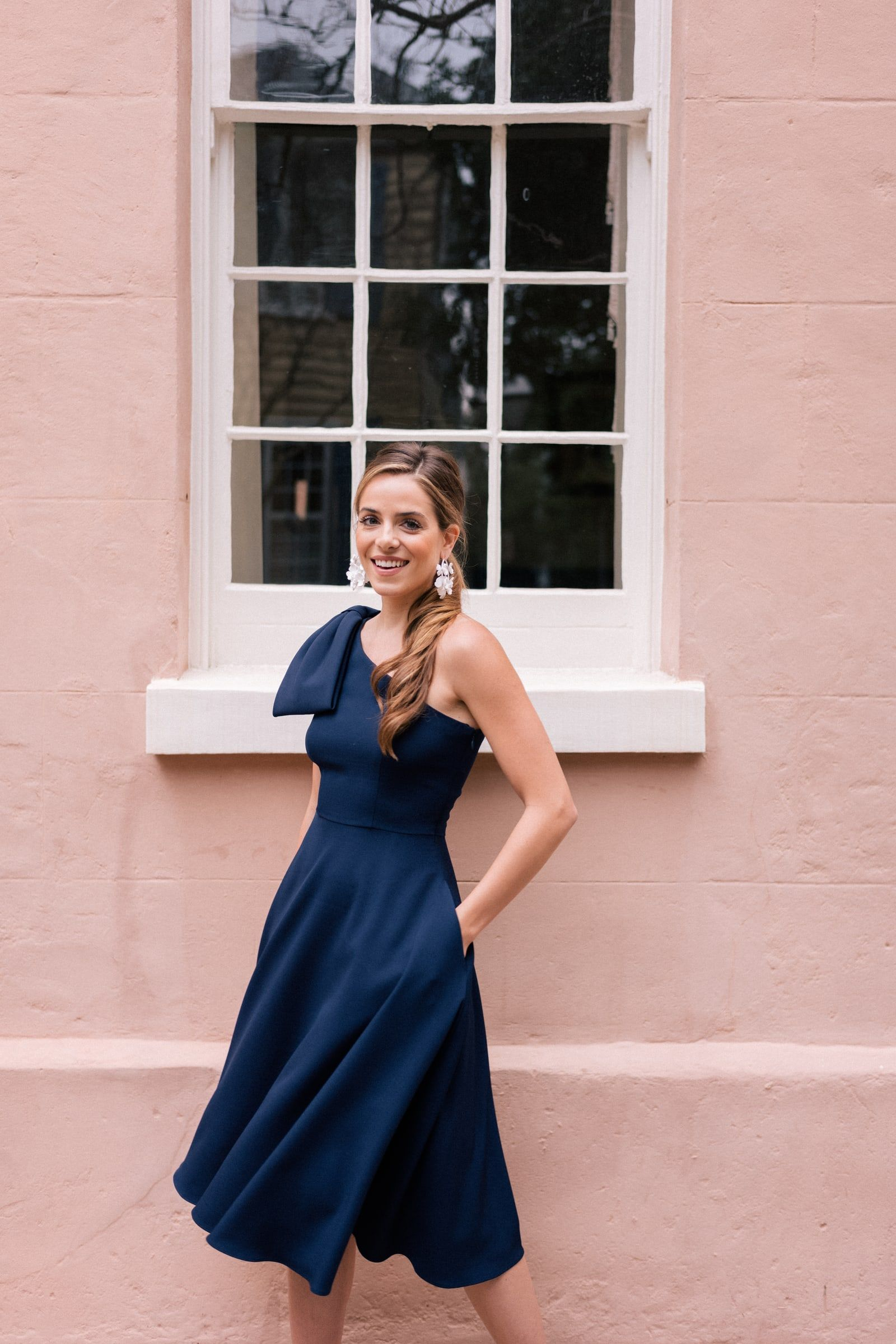 Yvonne one shoulder navy dress | **** ALL THE FABULOUS FASHIONS OF ...