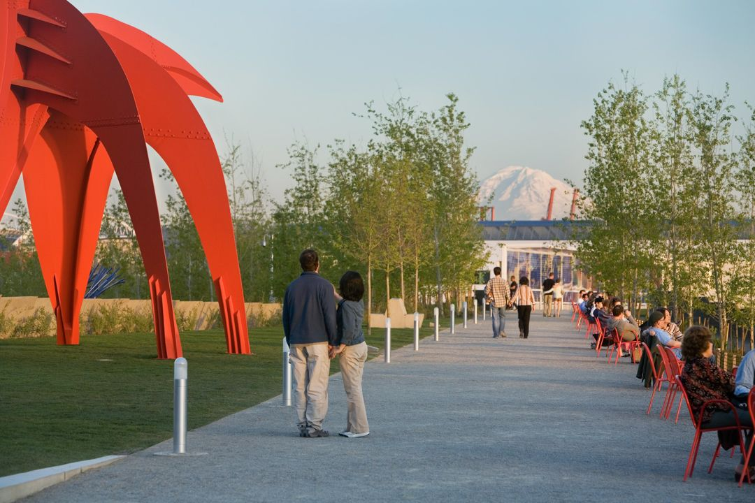 Olympic Sculpture Park Seattle Art Museum, WERK | Charles Anderson Landscape Architecture Calder and birch trees