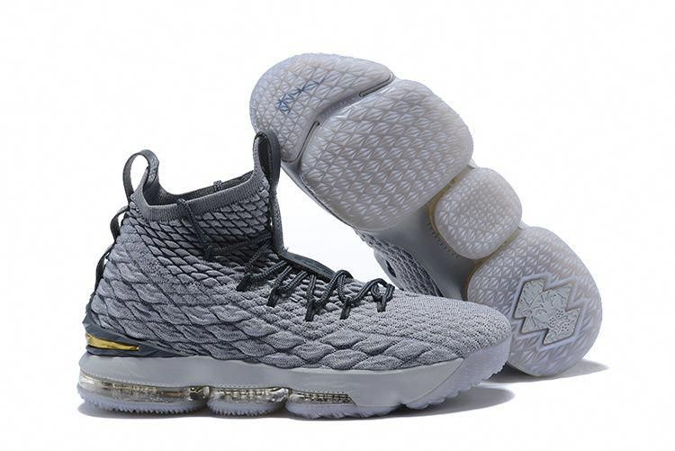 designer fashion 0d9cf ea03c Superior Quality Nike LeBron 15 Pride of Ohio Grey Gold Mens