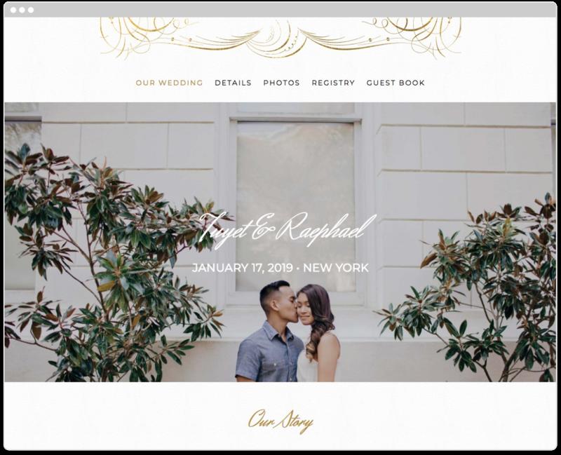 Gilt Agate Wedding Website Template The Knot Wedding Website Free Wedding Website Design Wedding Website