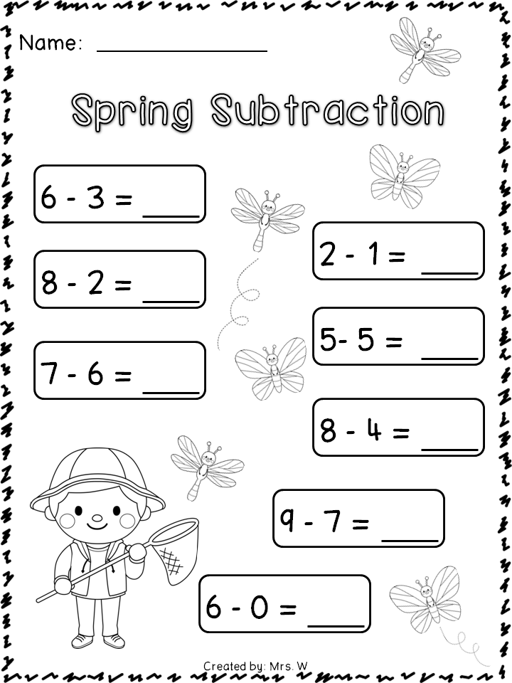 Spring Literacy and Math | Literacy, Pre-school and Maths