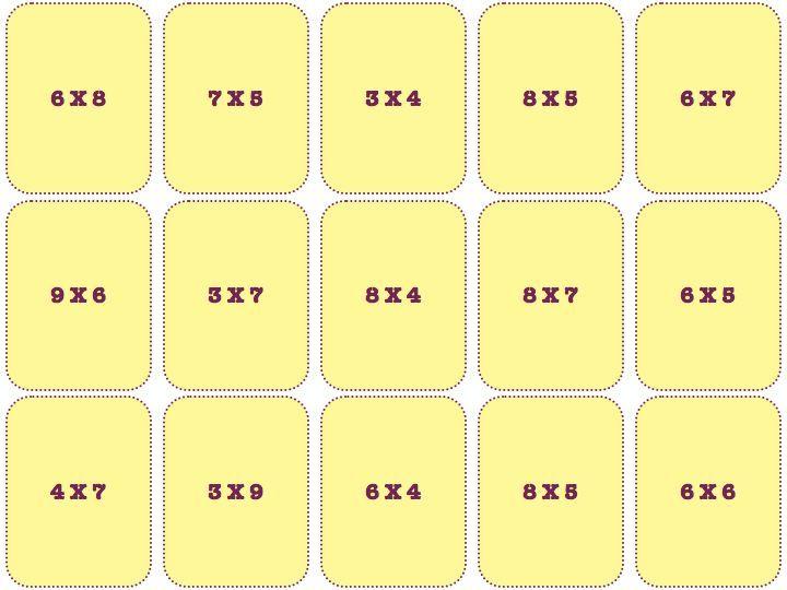 Jeu De Calcul Cartes Des Tables De Multiplication Jeux Calcul