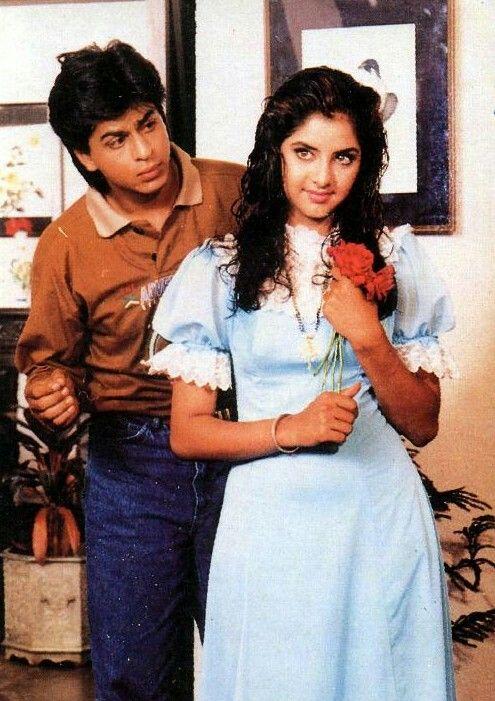 Shahrukh and Divya Bharti .... Deewana (1992 ) | Shahrukh khan, Shah rukh  khan movies, Vintage bollywood