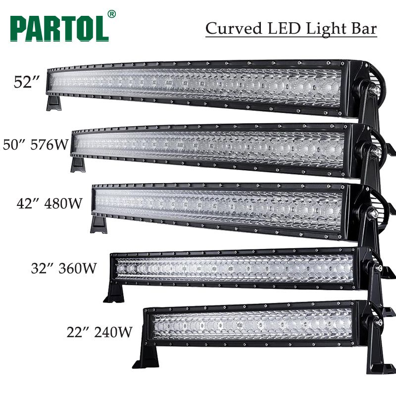 """CURVED LED LIGHT BAR 3 TRI-ROW DRIVING OFF-ROAD 4x4 COMBO BEAM 32/'/' 42/'/' 52/"""""""