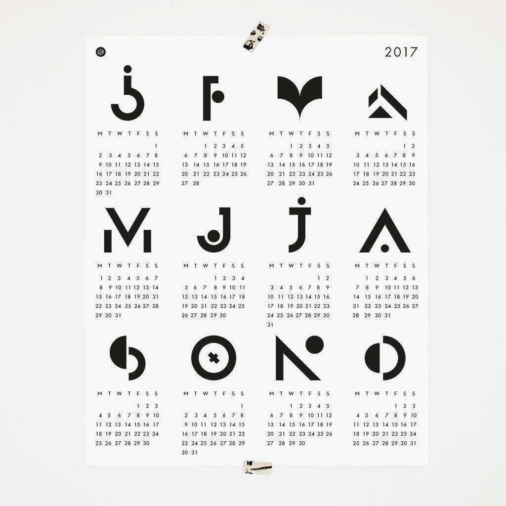 Our 2017poster calendaron sale! Only two available, black and white and green with blue details on. Use the code: CALENDAR50 during checkout. You will get it for 7 euros plus shipping. Printed on… #sales #design