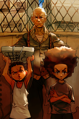 Boondocks Tough Love Android Wallpaper HD
