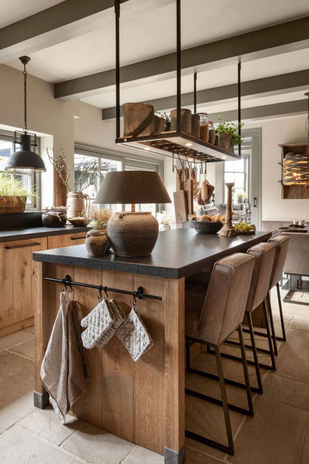 Cuisine bois vintage scandinave en 16  Design de cuisine