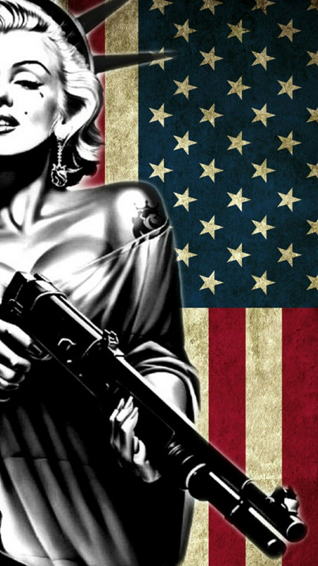 Happy Fourth Of July Marilyn Monroe Art 4th Of July Wallpaper