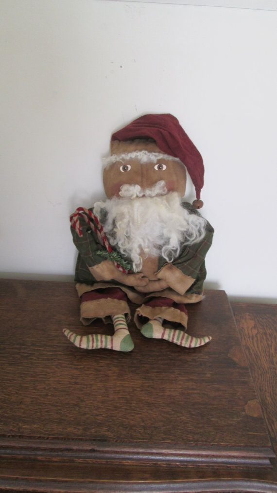 Primitive Santa  Kris Kringle by Bettesbabies on Etsy, $68.00