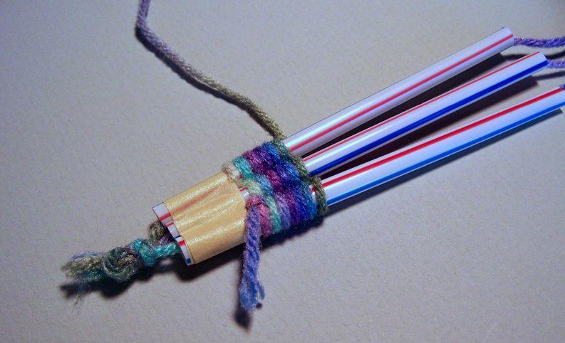 how to make bridge using straw