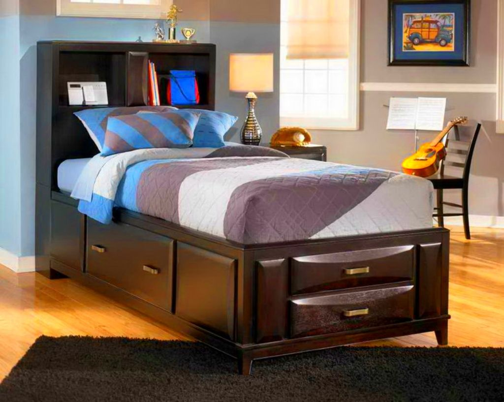 The title of this visual is Single Bed Design Ideas. It's ...