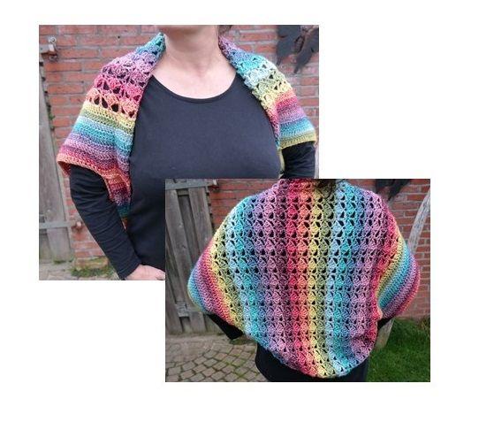 Haakpakket Shrug Stonewashed Xl Crochet Haken Omslagdoeken