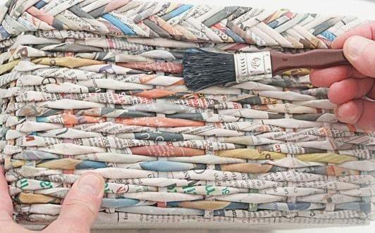 Tuto Panier Tressage Journal : Tutoriel faire une corbeille en papier journal c s