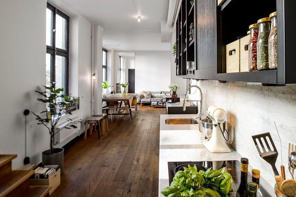 Es posible tener la cocina en el pasillo? | El pasillo, Pasillos y ...