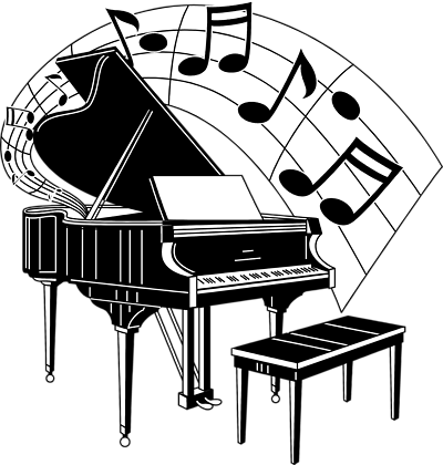 free stock photos illustration of a piano with music notes rh pinterest com free piano clipart illustrations free clipart piano recital