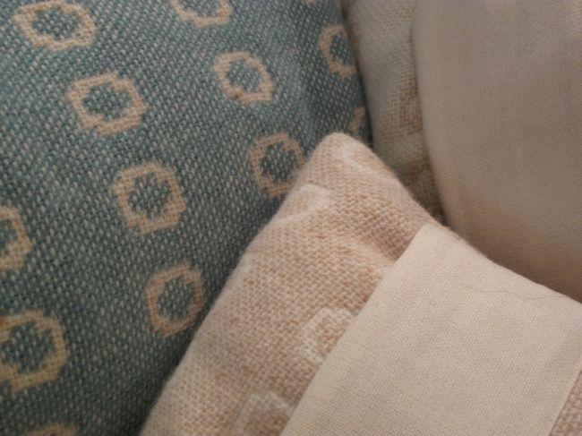 """Cefyn Burgess """"ovals"""" in Welsh wool."""
