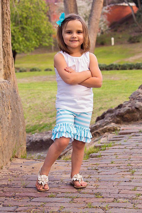 Jersey Knit Ruffled Shorts  Preorders  Begin by embellishkids, $16.00