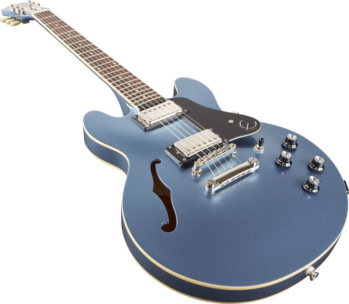 epiphone ltd ed ultra 339 electric guitar pelham blue pelham blue close angle guitar blue 39 s. Black Bedroom Furniture Sets. Home Design Ideas