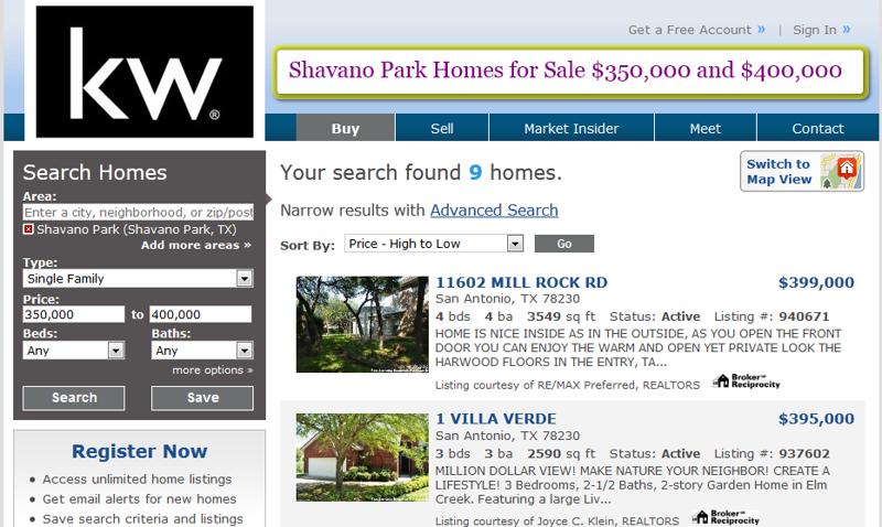 Shavano Park Homes For Sale Between 350 000 And 400 000 In Zip