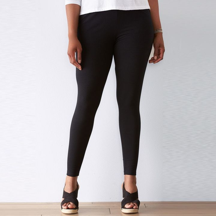 3a497c971ff740 Plus Size SONOMA Goods for LifeTM Solid Leggings ** Find out more about the  great product at the image link.