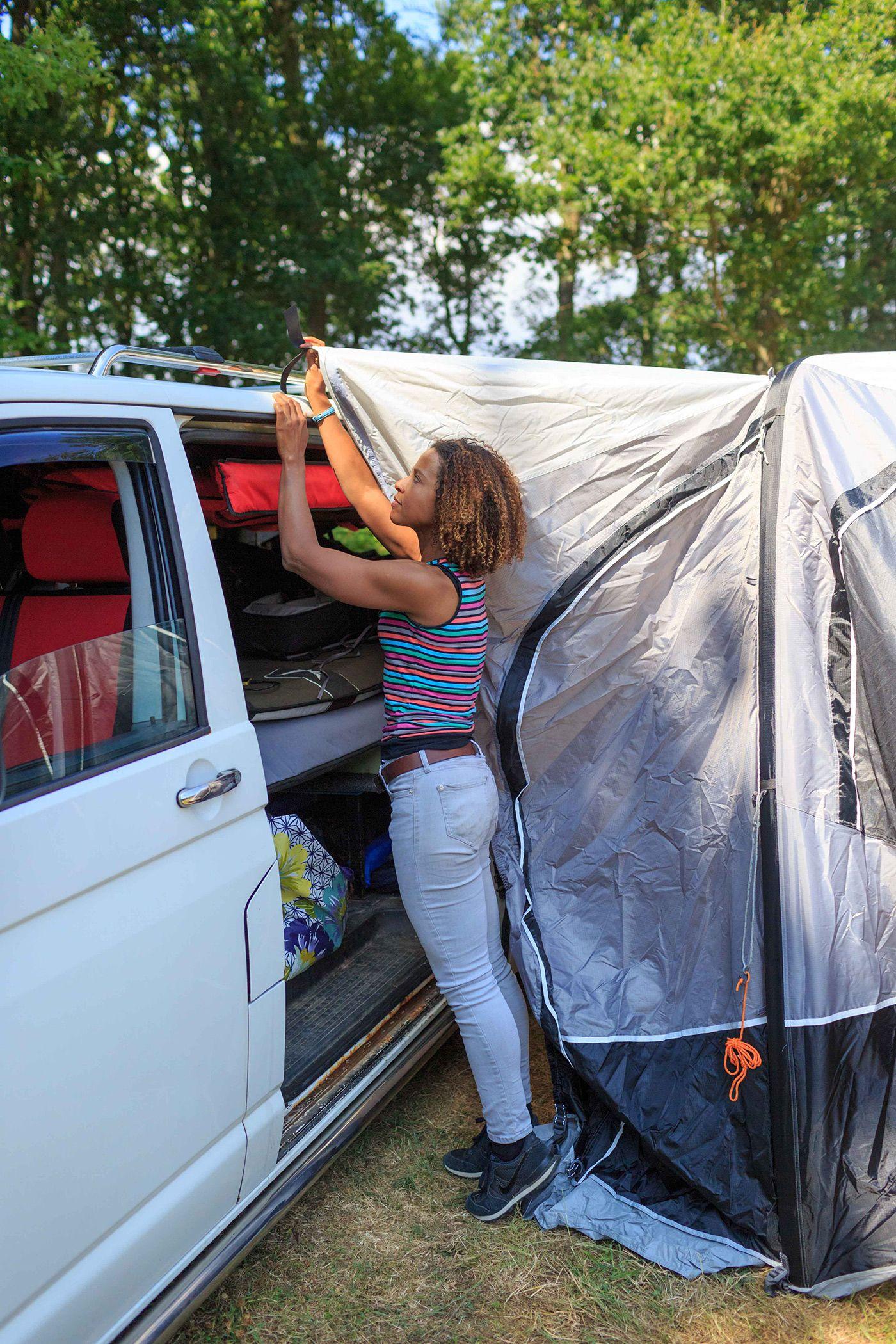 Vango Airhub Hexaway Low | Campervan awnings, Caravan ...