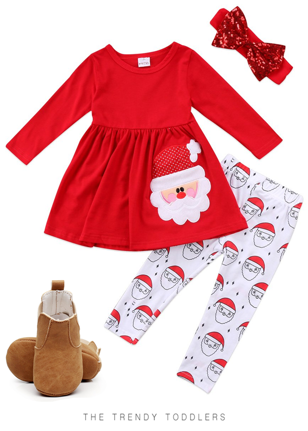 66d5afefbf4 SALE 50% OFF + FREE SHIPPING! SHOP Our Santa Claus Set   Soft Sole Boots  for Toddler Girls