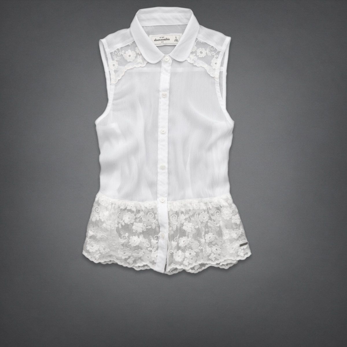girls pretty lace shirt | girls shirts | abercrombiekids.com could take shirts you have and add the lace