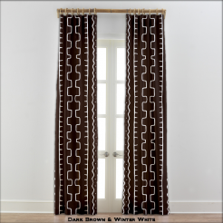 African Curtains - Authentic Mud Cloth