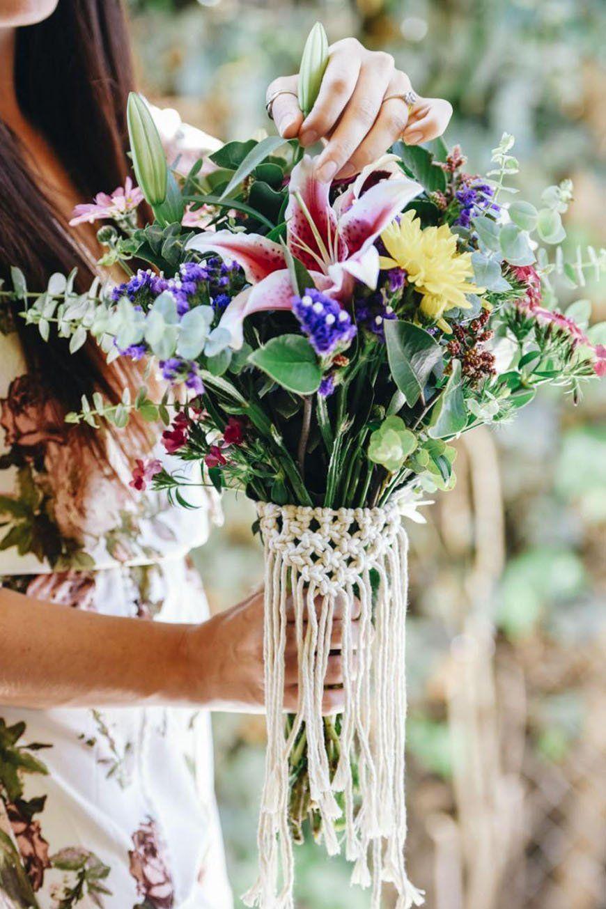 Boho Wedding Trends Macrame Chwv Boho Flower Summer