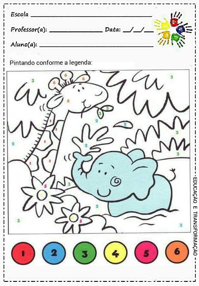Pin de Nadilu en Colorea según el color indicado | Pinterest ...