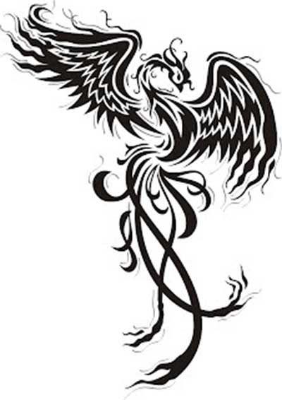 Dibujos ave fenix buscar con google dibujos tuti fruti for Fenix tribal tattoo