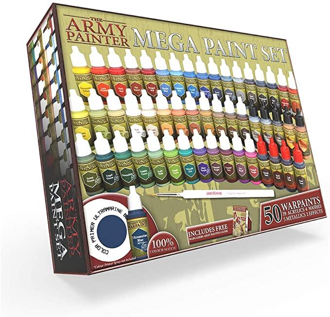 Amazon Com The Army Painter Miniature Painting Kit With Bonus Wargamer Regiment Miniature Paint Brush Acrylic Model In 2020 Paint Set Model Paint Miniature Painting