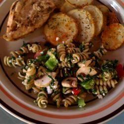 Spinach Feta Pasta Salad