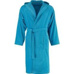 Photo of Roupão de banho Vossen casaco curto unissex com capuz Texas turquesa – 557 – L Vossen