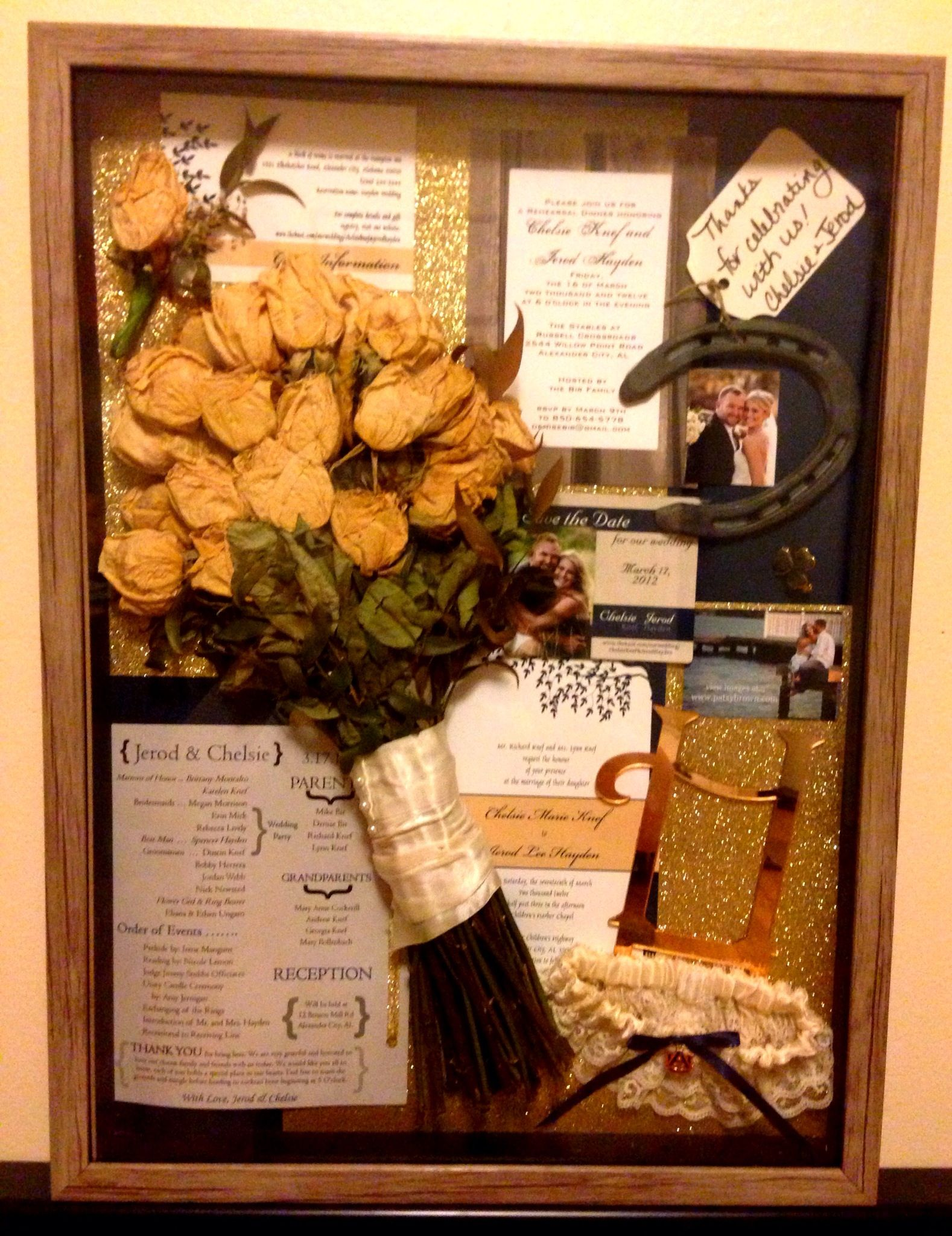 Our Wedding Shadow Box 3 17 2012 The Best Day Ever Project