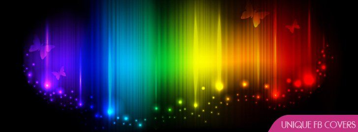 Unique Colorful Fb Cover 4 39 Facebook Cover Rainbow Abstract