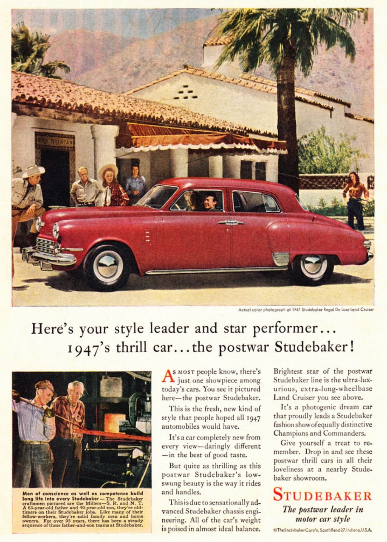 1947 Studebaker - post war | Old Car Adds | Pinterest | Cars