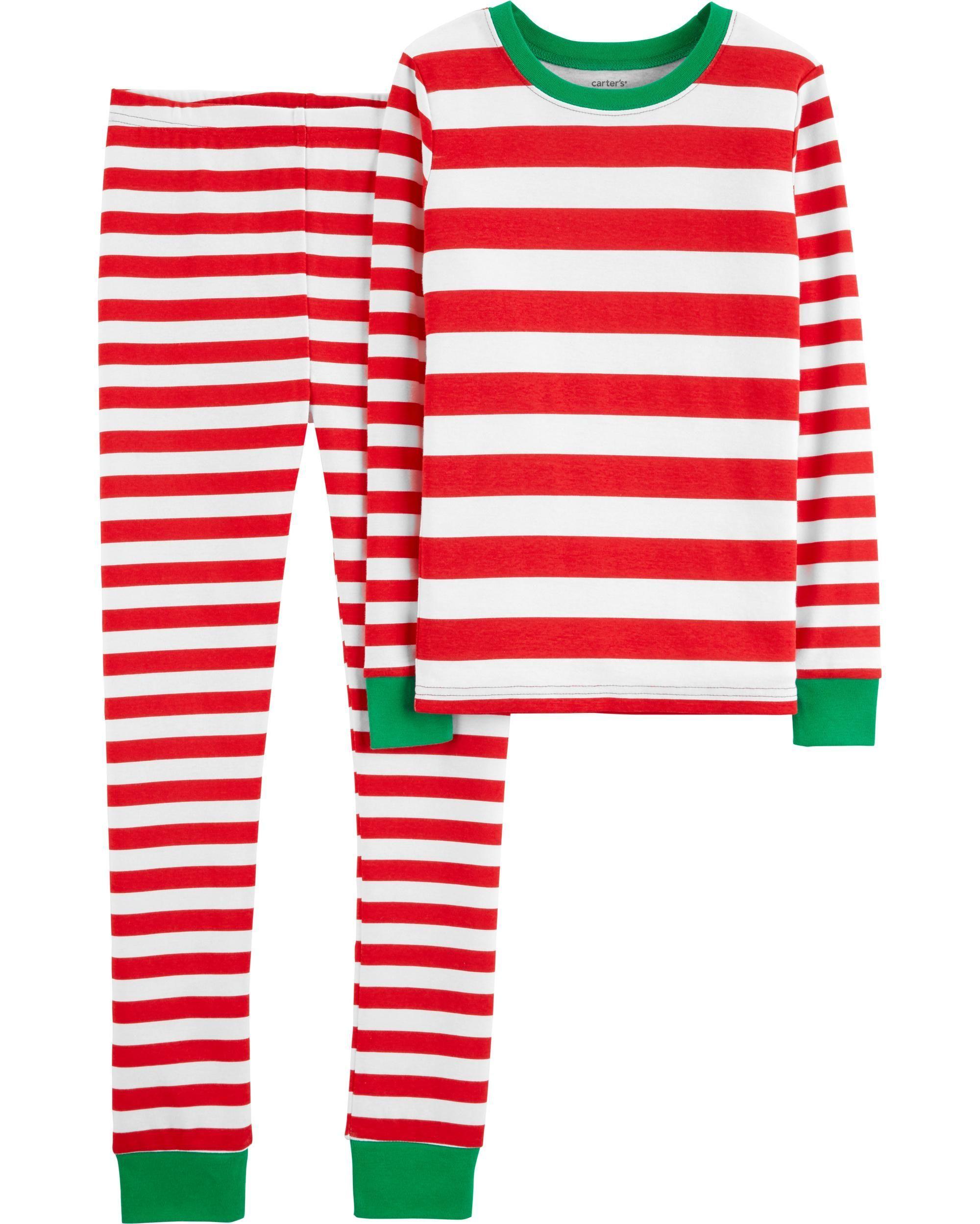 8b1704dab82e 2-Piece Christmas Snug Fit Cotton PJs