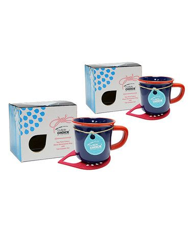 Another great find on #zulily! Nautical Blue Mug & Coaster Pair - Set of Two…