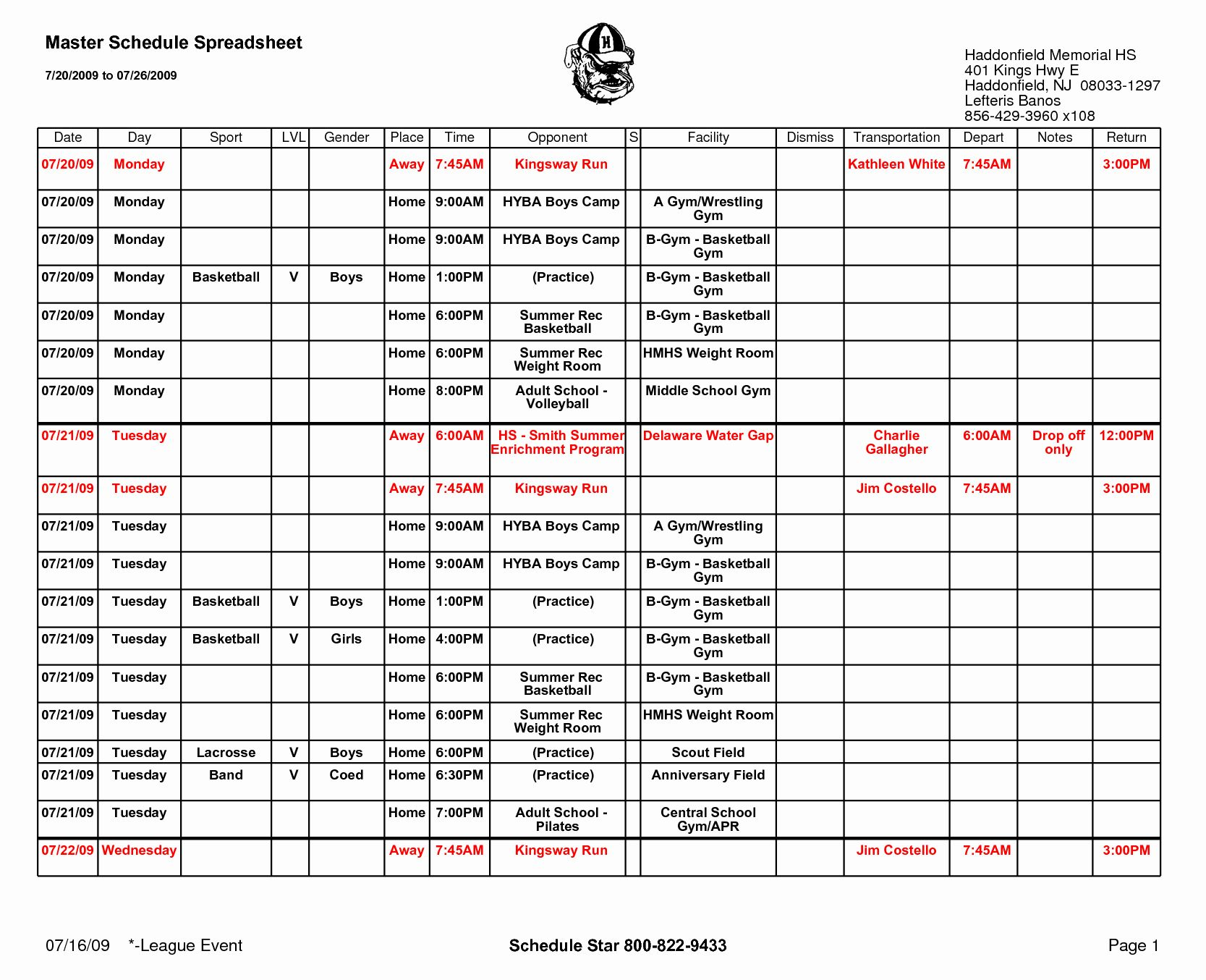 30 Basketball Practice Schedule Template in 2020