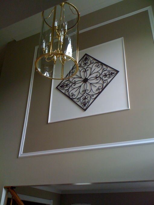 2 story foyer decorating ideas | Foyer Wall, Two story foyer wall ...