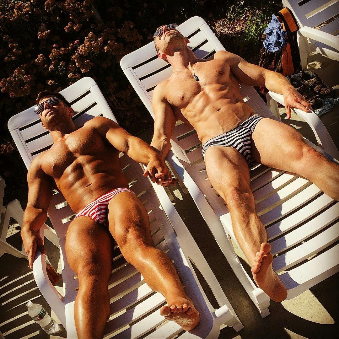 Gay male erotic white underwear