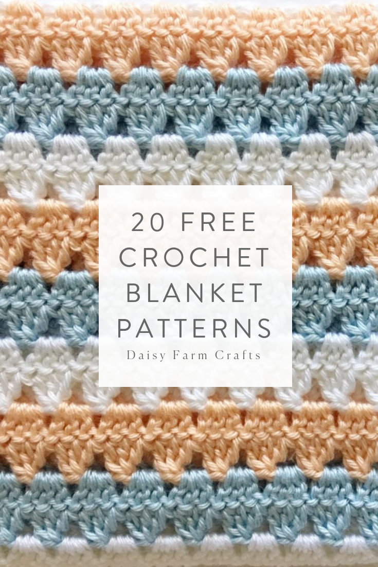 20 Free Crochet Blanket Patterns made with Caron Simply Soft #crochetpatterns