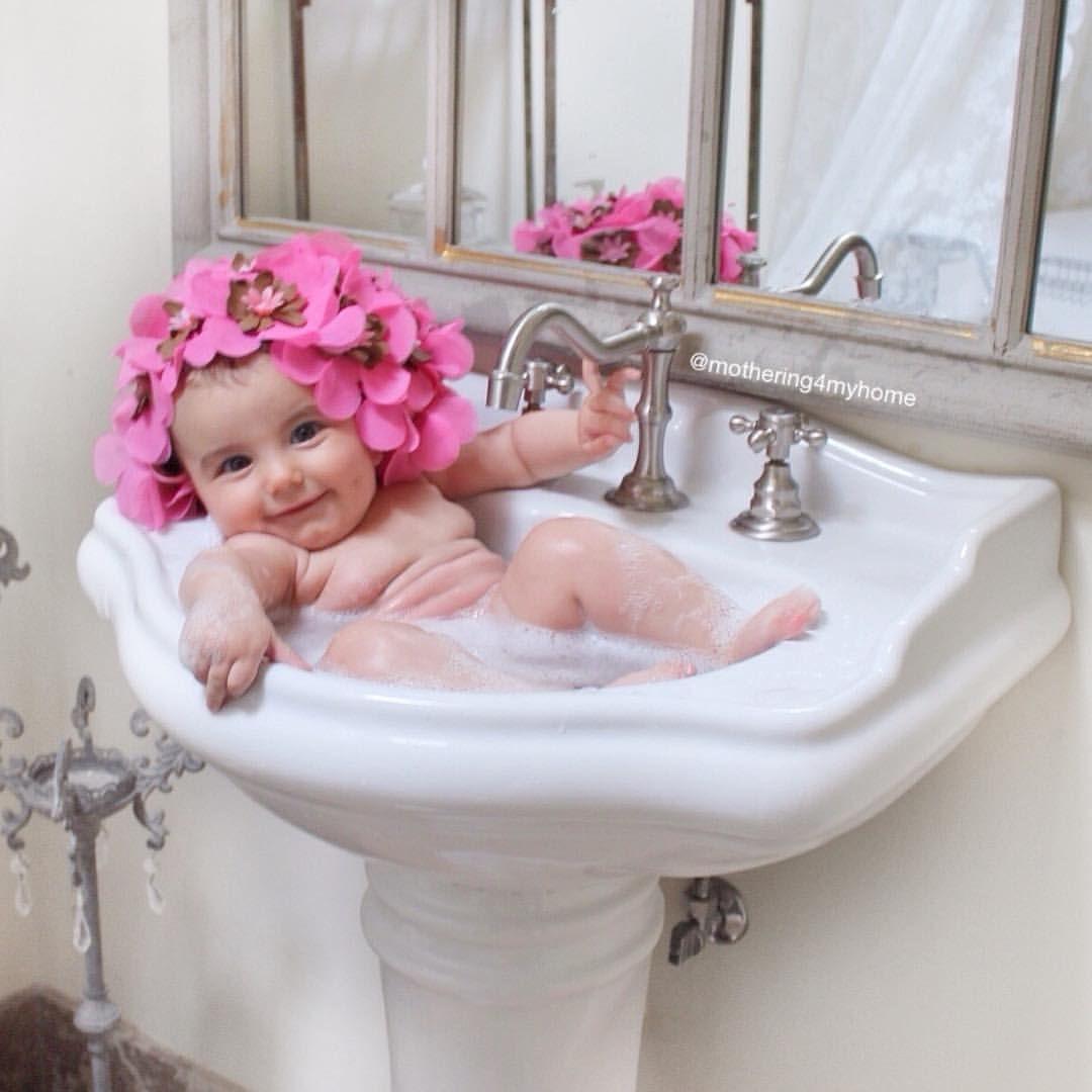 Baby sink bath! Instagram photo by @mothering4myhome #luxurybath ...