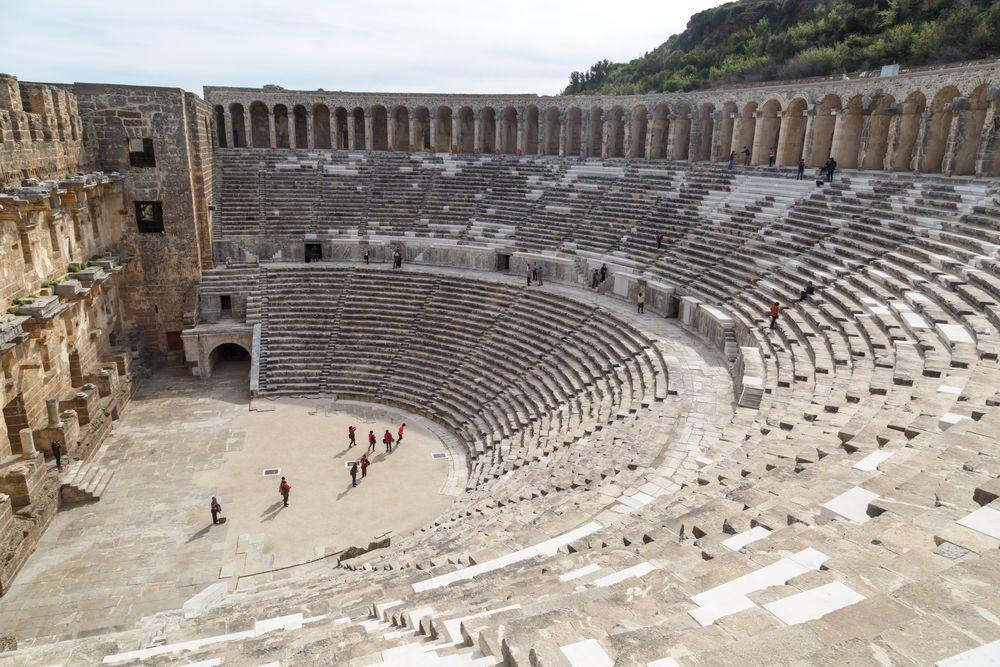 Aspendos Antik Kenti Tarihi : Türkiye antalya aspendos antik kenti tÜrkİye