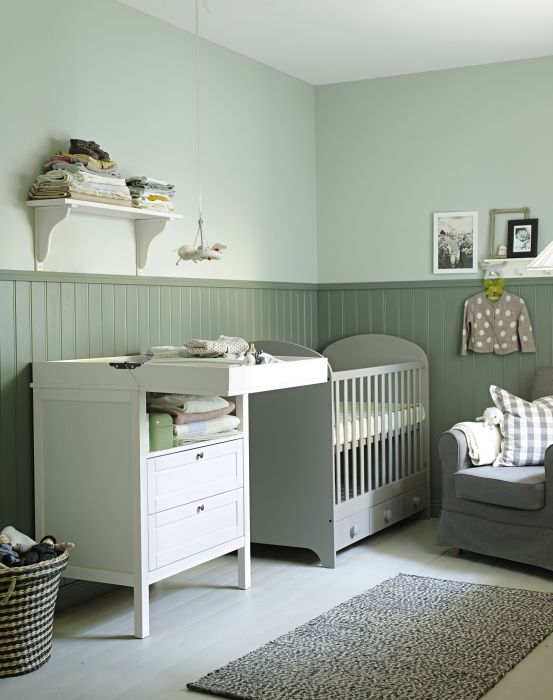 Using Natural Textiles And Soothing Colors In The Nursery Helps To